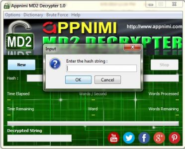 appnimi md2 decrypter for windows - enter hash string