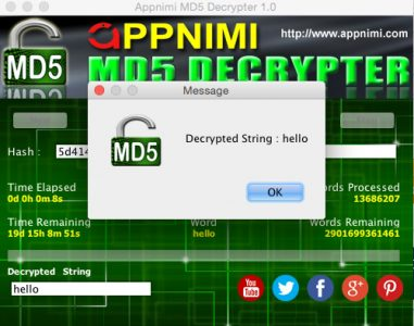 appnimi md5 decrypter for mac - decrypted string